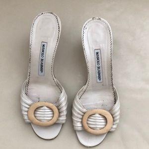 Manolo Blahnik sandals.